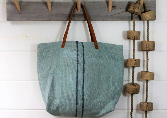 European Grain Sack Beach Tote
