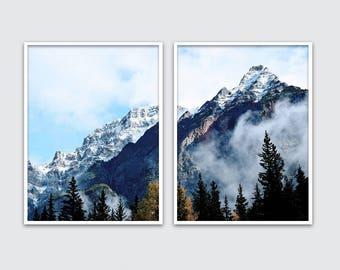 mountain wall art set, mountain art, mountain print, mountain decor, mountain wall art, mountain poster, mountain printable, Mountain Photo