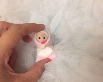 Cute Tiny Baby Girl,Dollhouse,Artist Doll,So Cute,Worldwide Shipping