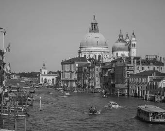 The Grand Canal in Black and White