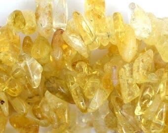 "10-14mm citrine chip nugget beads 15.5"" strand 36631"