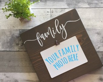 READY TO SHIP, Family Sign, Family Picture Sign, Family Wood Sign, Family Photo