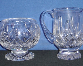 Waterford Crystal ~ Lismore Footed Sugar and Creamer - pre-owned (RA)