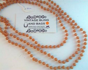 151cm vintage 1980s necklace, plastic necklace, bead necklace, brown necklace, long brown beads, vintage necklace, long brown bead necklace
