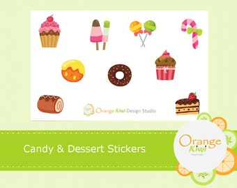 Dessert Stickers, Candy Stickers, Planner Stickers, Food Stickers