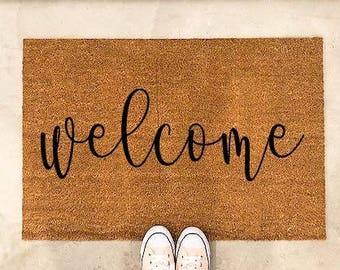 monogram door mat-welcome mat-door mat-client gift-outdoor welcome mat & Custom door mat | Etsy Pezcame.Com