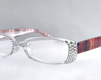 Swarovski Crystal Clear Reading Glasses  +1.25 +1.50 +2.00 +2.50 +1.75