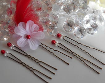 Sensuality wedding hair pins set