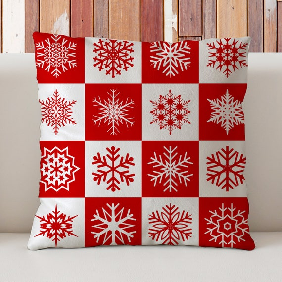 Scandinavian Christmas Pillow : Scandinavian Christmas Pillow Scandinavian Snowflakes Pillow