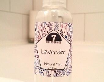 Lavender Mist, Body Spray, Body Spritz, Room Spray - 2.5 oz - Aromatherapy - Essential Oils - All Natural