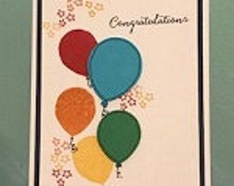 Congratulations Balloon Greeting Card