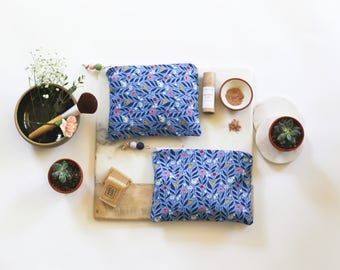 Floral Makeup Bag / Cosmetic Bag / Purse Organizer / Coin Purse / Skincare Kit / Birthday Gift / Annabelle Taylor Co / Portland OR