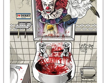 Stephen King's IT 1990 Pennywise Alternative Horror Poster Print