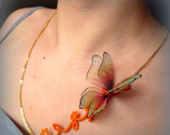 Romantic and delicate Butterfly Necklace