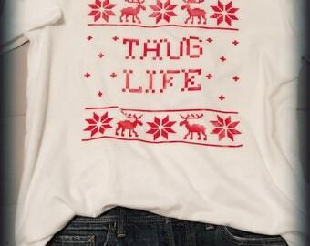 Thug life Christmas sweater