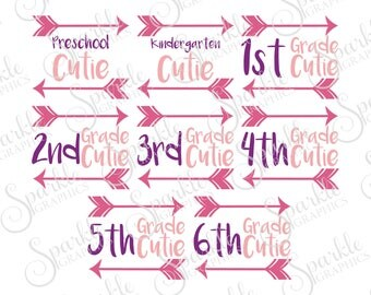 School Cutie SVG, Back To School SVG, School SVG, First Day Of School, Clipart Svg Dxf Eps Png Silhouette Cricut Cut File Commercial Use