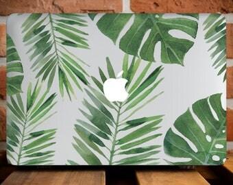 Tropical Leaves MacBook Case Mac Case MacBook Air 11 Case MacBook Pro 13 Case Laptop Hard Case Floral Macbook Pro 13 Cover Mac Sleeve WCm007