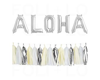 """ALOHA Letter Balloons 