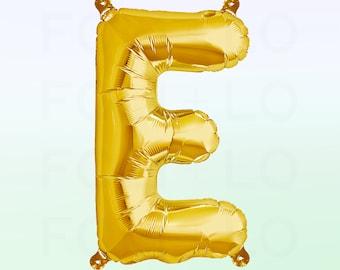 Metallic Gold Letter E Balloon | Gold E Balloon | Gold Letter E Balloon | Jumbo Letter E Balloon