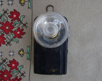 Vintage WONDER Flashlight with Button Morse, Pocket Lamp, Collectible Military Torch, Vintage Nightlight, Hand Signal Light, Made in France