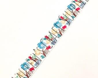 "Spring Ribbon | Spring Flower Ribbon | Flower Ribbon | Tulip Ribbon | Spring Hair Bow | US Designer Ribbon | 7/8"" Ribbon | Grosgrain Ribbon"