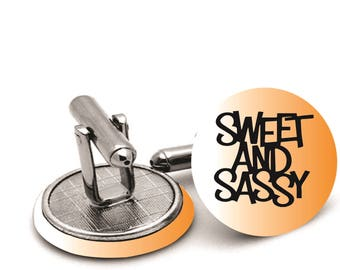 Sweet  and sassy   wedding  cufflinks