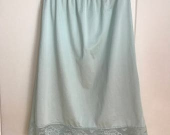 60's mint slip skirt