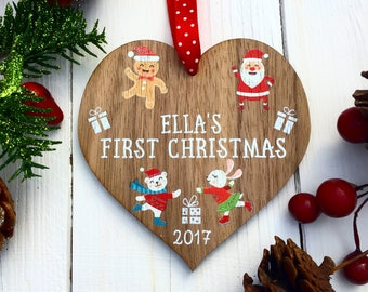 Babys First Christmas Decoration,christmas ornaments, First 1st Christmas Ornament, Christmas Tree Ornament, Personalised 12CD