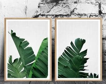 Palm Tree Leaf Print Tropical Art Leaf Print Botanical Wall