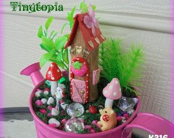 Strawberry Fairy House Set ~ Fairy Garden Kit