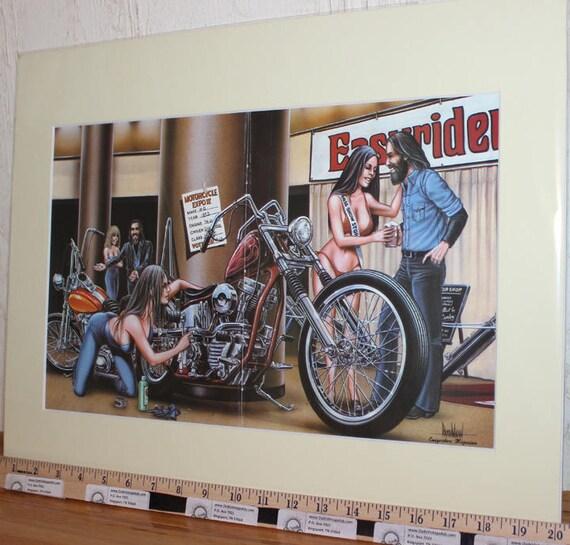"David Mann ""Easyriders Motorcycle Expo"" 16'' x 20'' Matted Motorcycle Biker Art #8112ezrxmc"