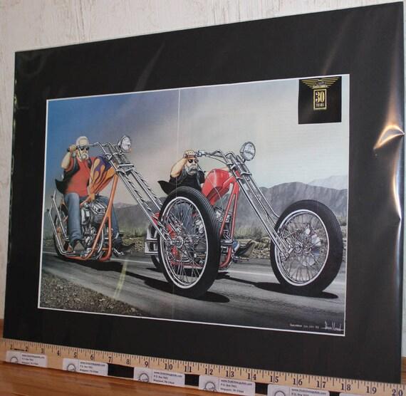 "David Mann ""2000 Showtime Rigid"" 16'' x 20'' Matted Motorcycle Biker Art #0106ezrxmb"