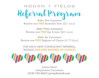 Referral Program Card *Digital File* - Perfect for Rodan and Fields Consultants