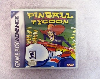 Pinball Tycoon: Trigger Finger Challenge GBA - GameBoy Advance Custom Case  (***No Game***)