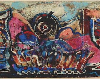 Mid-Century Modern Colorful Still Life – ONDREJ PAVLIK – Listed Artist MID 20th Century