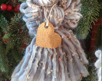 Silver, Copper and Gold Tassel Angel