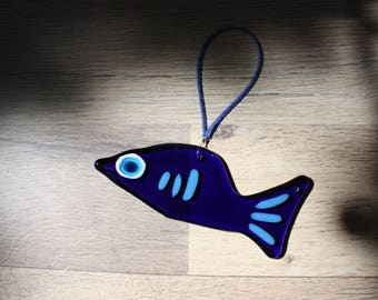 Fused Glass Fish Suncatcher
