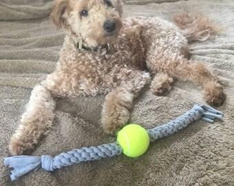 Upcycled Tennis Ball Dog Tug