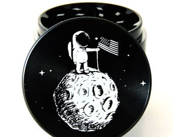 "Moon Man Herb Grinder - 2.2"" - 4 piece grinder"