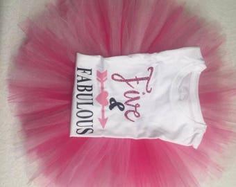Five and Fabulous Tutu & Shirt