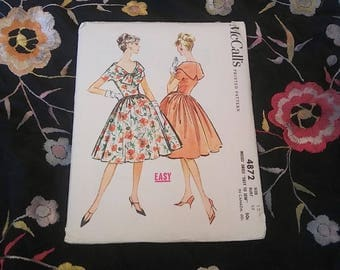 1950s McCall's dress pattern with full skirt // size 12, bust 32