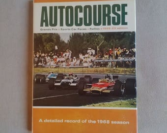 Autocourse Annual Review Book 1968 - 69 Motorsport Formula One F1