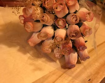 24 Wooden Rose Bouquet