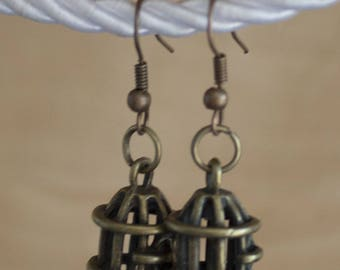 Small cage earrings