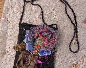 Vintage Beaded Bag Laces Embellished 1920s Flapper French Shabby Chic Inspired Bridal Adorned Vintage Opulence