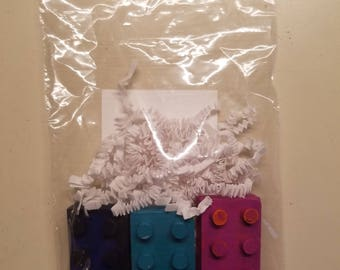 Lego brick crayon party favors! Set of 8 packs