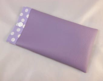 Faux purple glasses case
