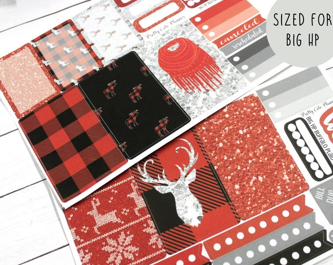 BIG Happy Planner Planner Stickers - Weekly Planner Sticker Set - Happy Planner - Day Designer - Functional stickers - Buffalo Plaid
