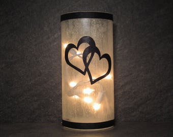 WeddingInterlocking Hearts Table Light