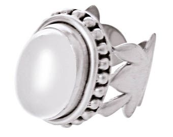 Banquo Ring silver plated White (R15: 17)